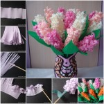 Hyacinth van crepepapier