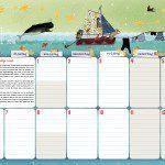 Maandplanner voor het hele gezin