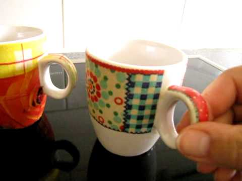 servettentechniek op serviesgoed
