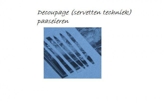 decoupage (servetten techniek) paaseieren