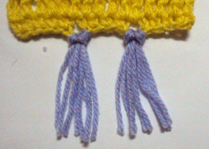 franje haken en knopen. Bron: crochetspot.com