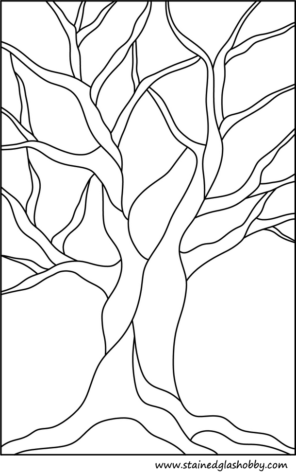 patroon zijdeschilderen en glas in lood. Bron: stainedglasshobby.com