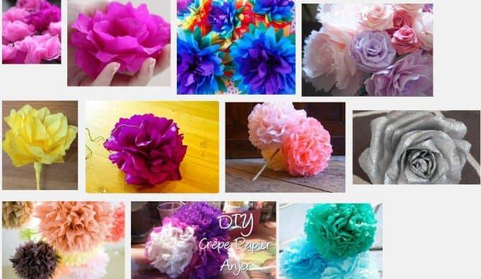 bloemen maken van papier. Bron: Google.nl
