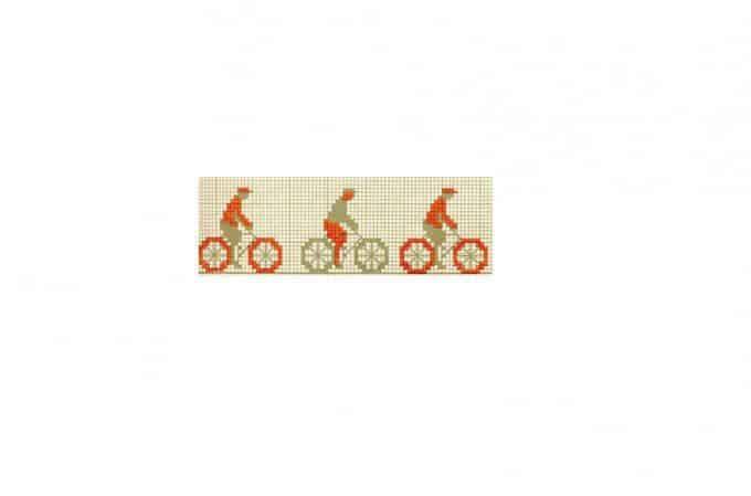 borduurpatroon fietsen