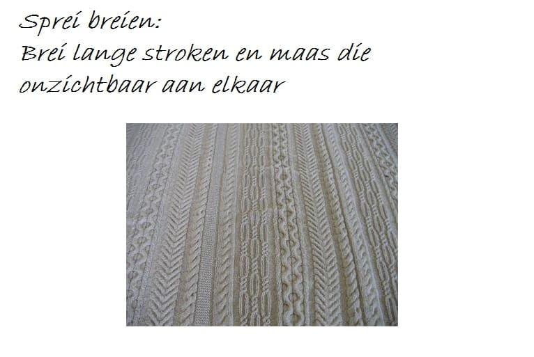Breipatroon Plaid Met Kabels.Plaid Of Sprei Breien Hobby Blogo Nl