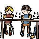 Eten aan tafel met kinderen
