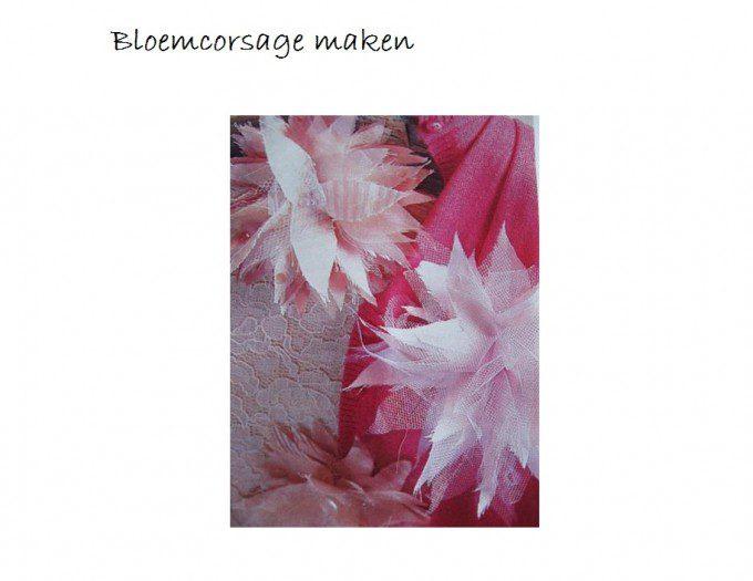 gratis patroon bloemcorsage van restjes stof