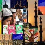 Ramadan collage knippen plakken
