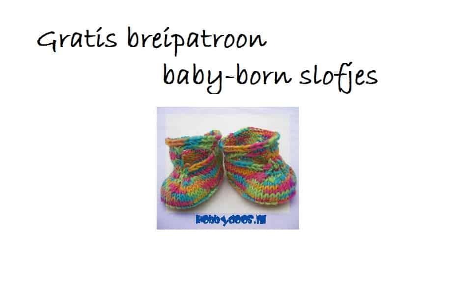 babyborn slofjes breipatroon gratis