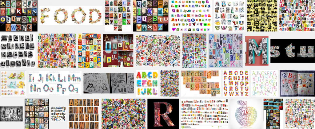 educatieve collage letters maken