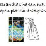 Strandtas haken van plastic tasjes