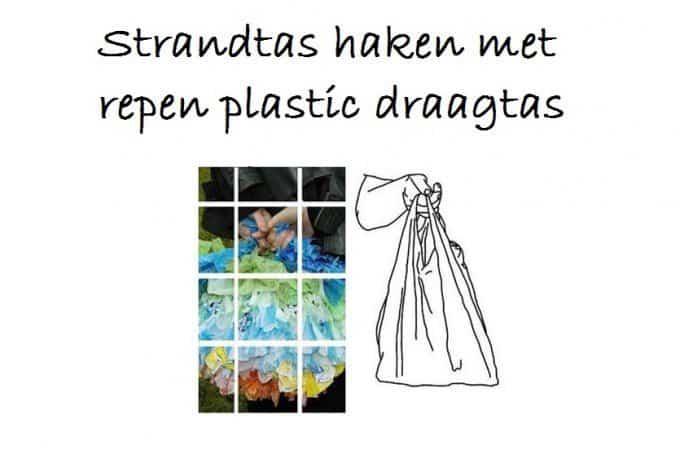 strandtas haakpatroon plastic draagtassen
