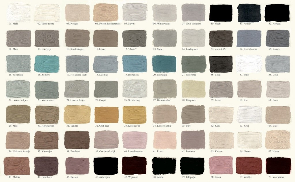 kleurenkaart kalkverf