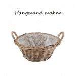 Hanging basket zelf maken met rieten mand