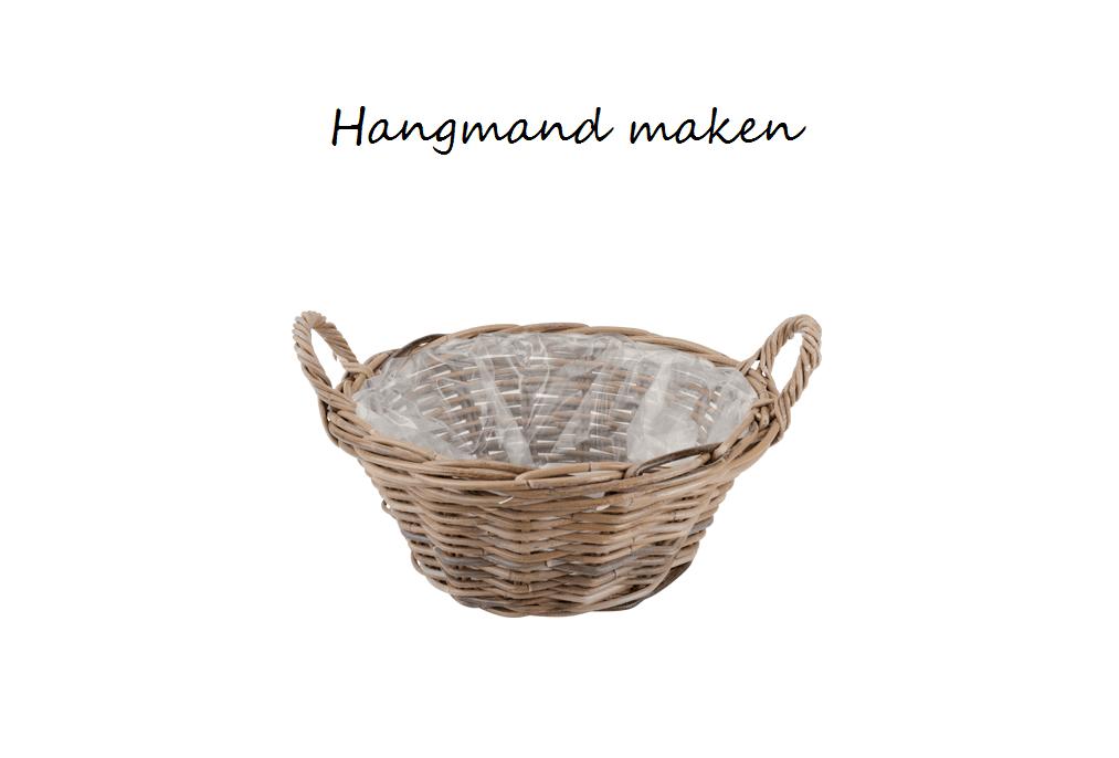 Hanging basket zelf maken met rieten mand - Hobby.blogo.nl