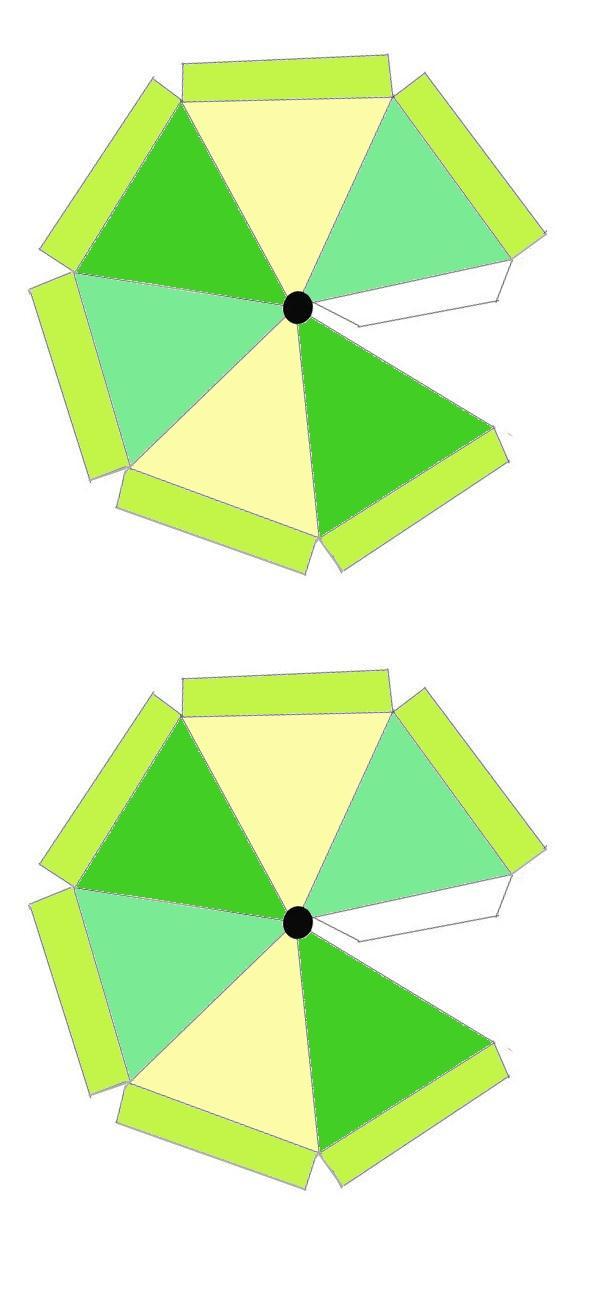 wespen parasol bouwplaat gekleurd