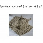 Pannenlap grof breien patroon