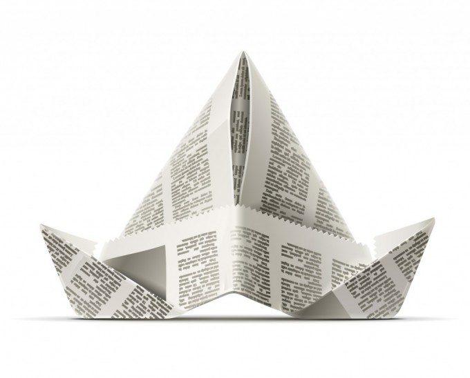 Hoe hoedje van papier of krantenpapier vouwen