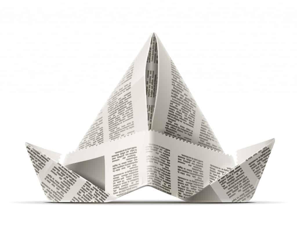 hoe hoedje papier of krantenpapier vouwen hobby blogo nl