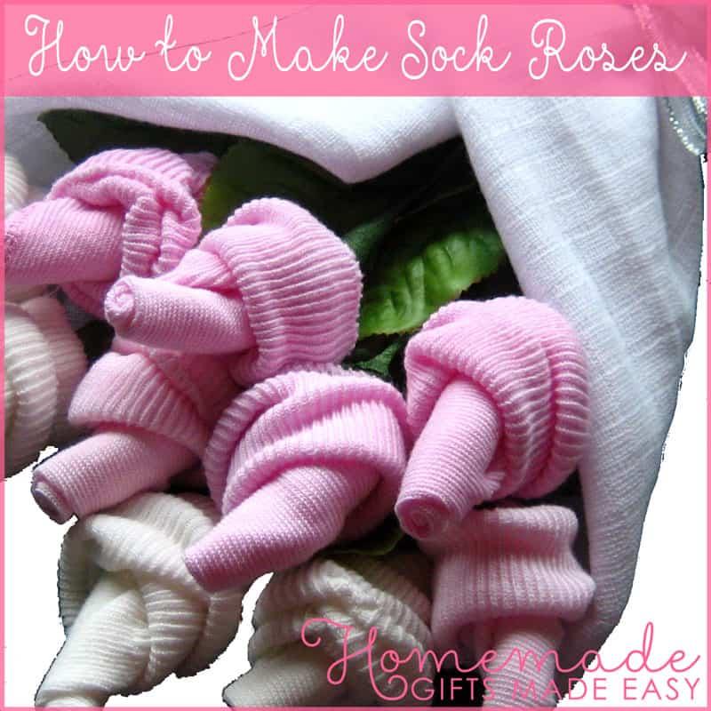 baby sok roosjes maken in boeket