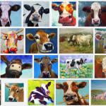 Koe en dieren zelf beschilderen of beplakken
