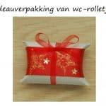 Cadeauverpakking maken met wc rolletjes
