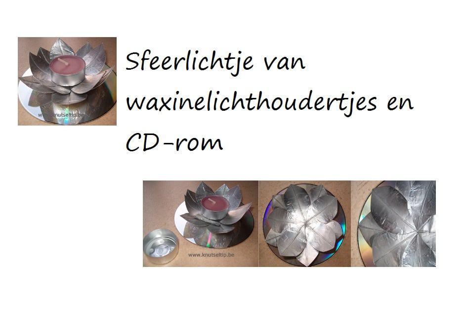 sfeerlichtje van waxinelichthoudertjes en cdrom 2