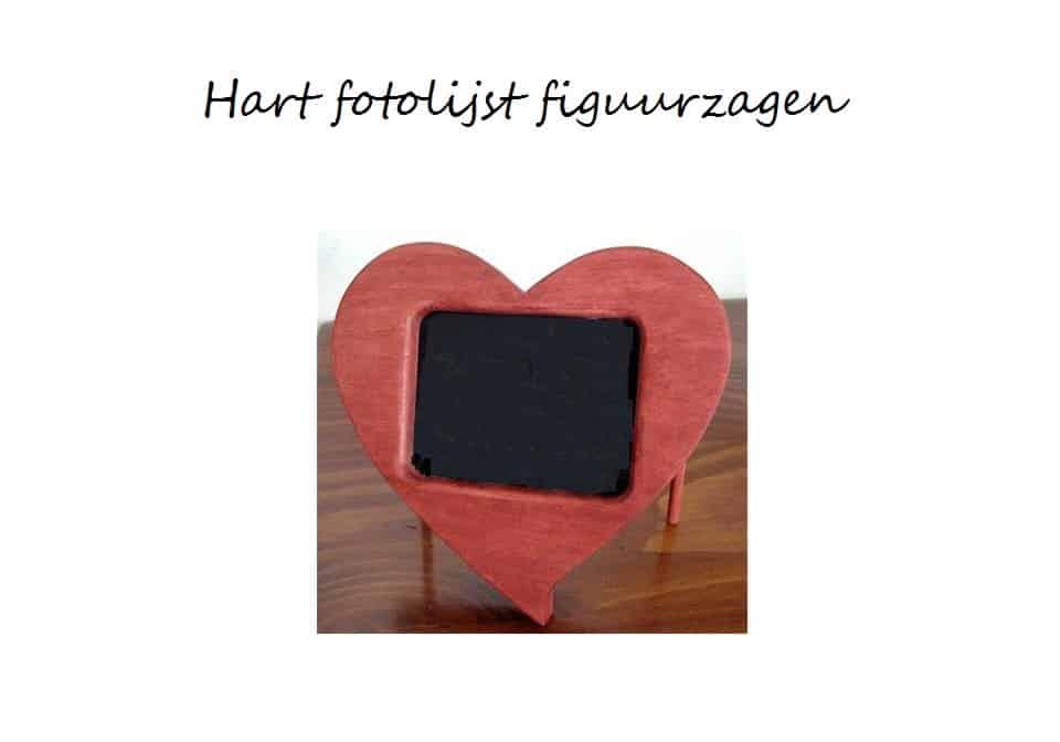 Bekend Hart fotolijst zelf maken van hout - Hobby.blogo.nl #YS64