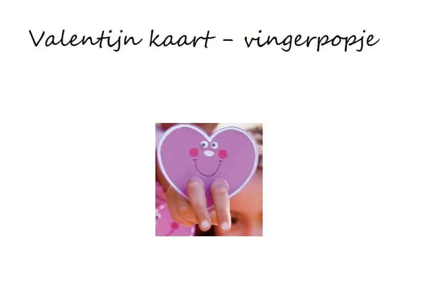 valentijn kaart vingerpopje knutselen
