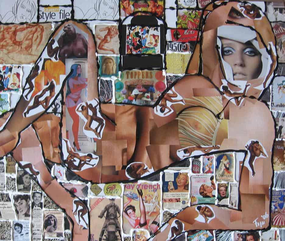 BLOTE VROUW collage 2006 ellenfigee