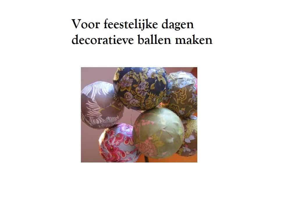 Hoe decoratieve ballen maken met mooi papier