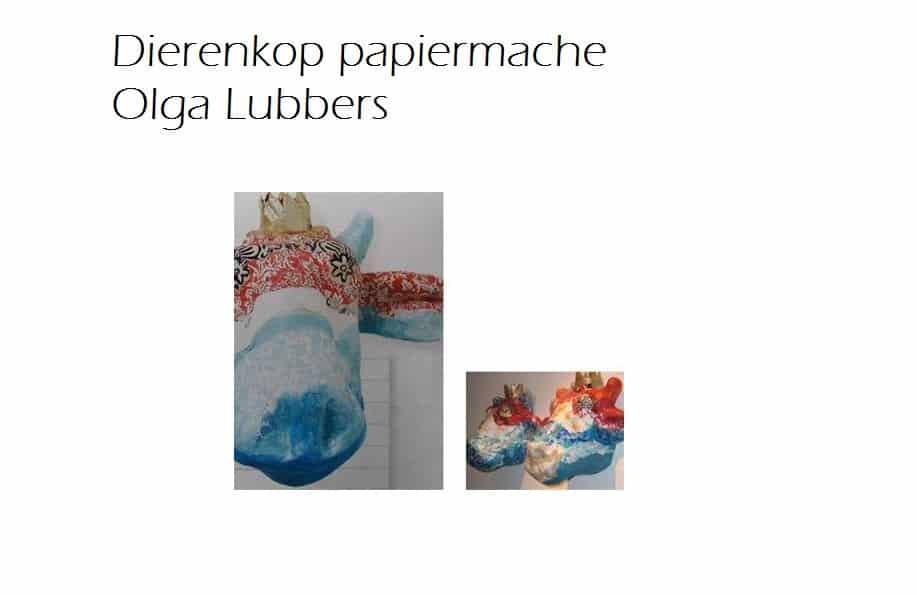 dierenkop papiermache olga lubbers 2