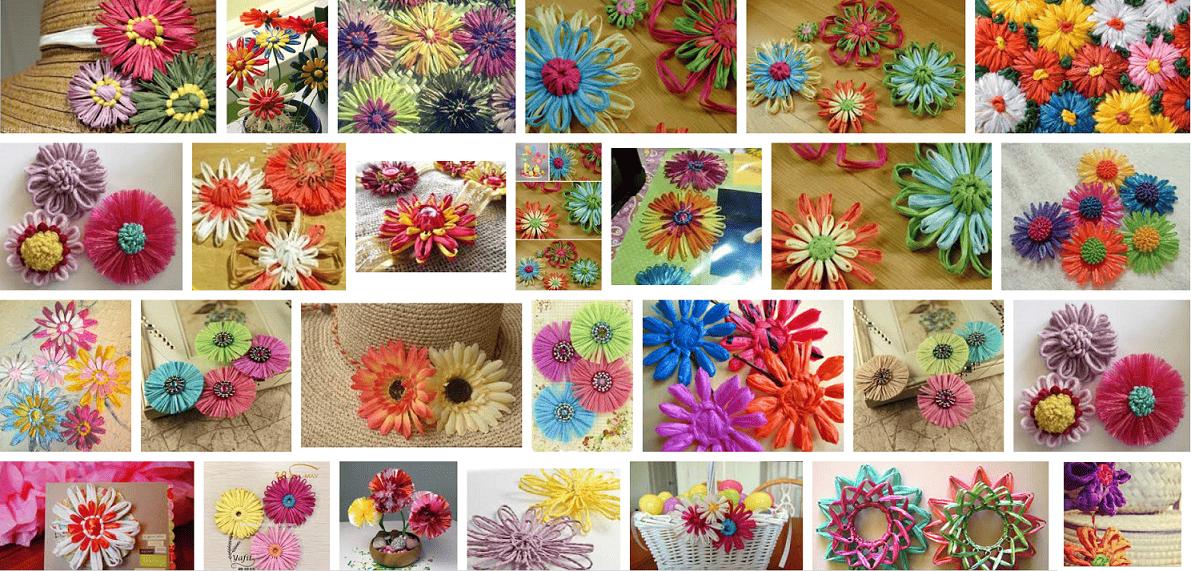 Bloemenslinger Maken Van Raffia Hobbyblogonl