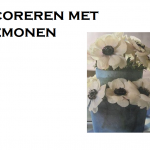 Diner tafel versieren met anemonen