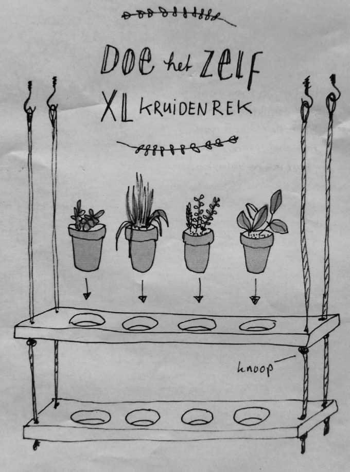 Plantenrekje voor kruiden maken