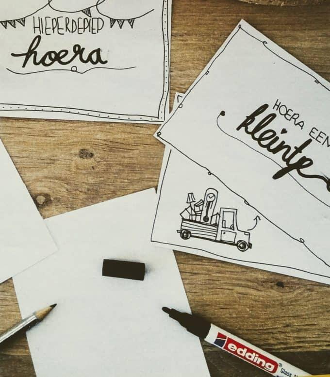 Kaartje maken met handgeschreven quote