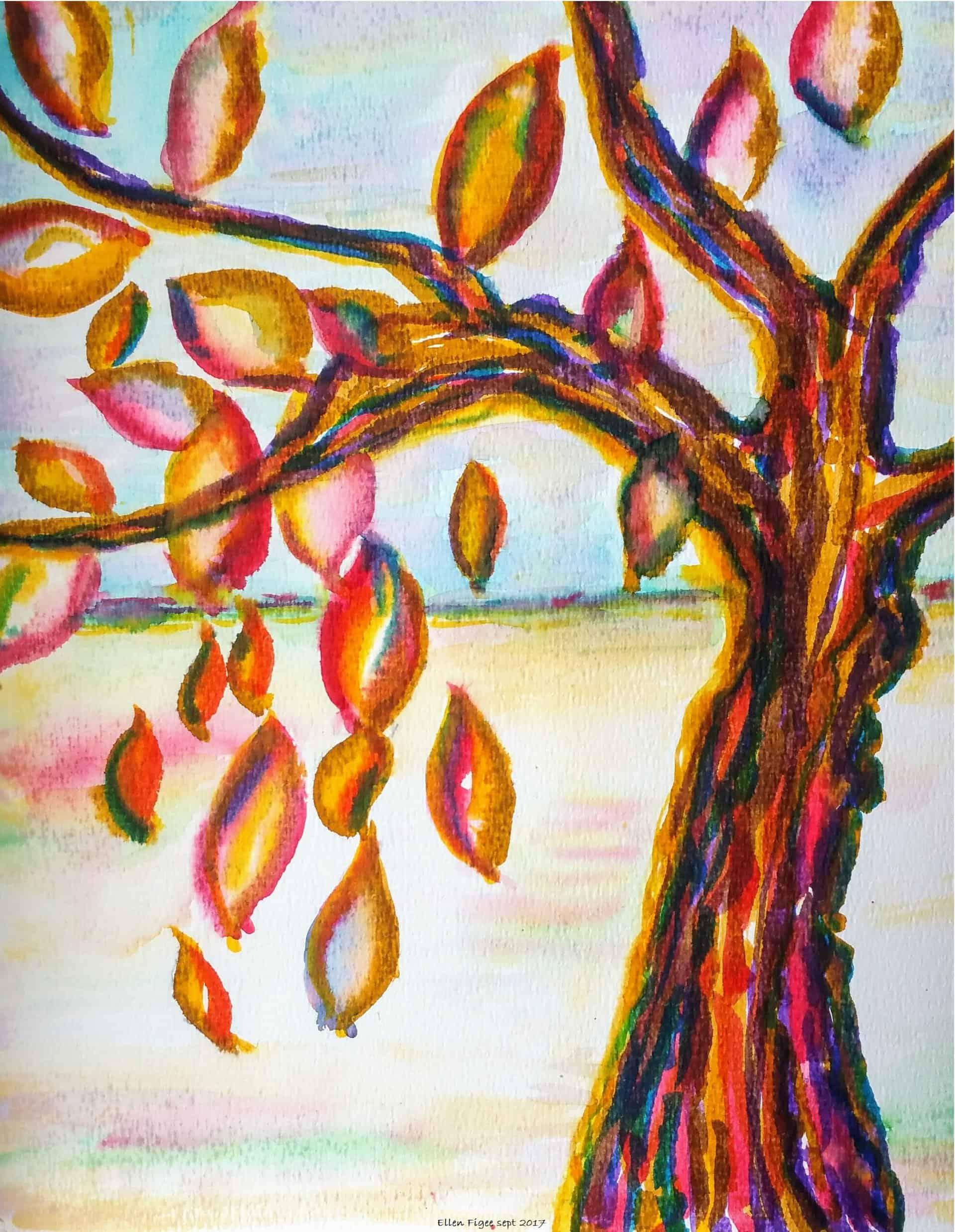 herfst tekenen en schilderen 2