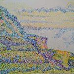 Pointillisme oefening met inspirate van kunstenaar