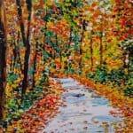 Herfstbos schilderen met acrylverf