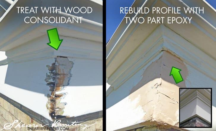 Houtrot simpel en snel oplossen met tips - Repairing wood rot on exterior door ...