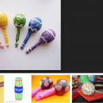 Sambaballen knutselen met restmateriaal