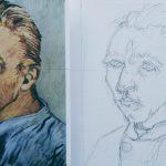Tekenen en schilderen als Van Gogh oefenen