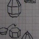 Patroon kerstbal van gekleurd papier