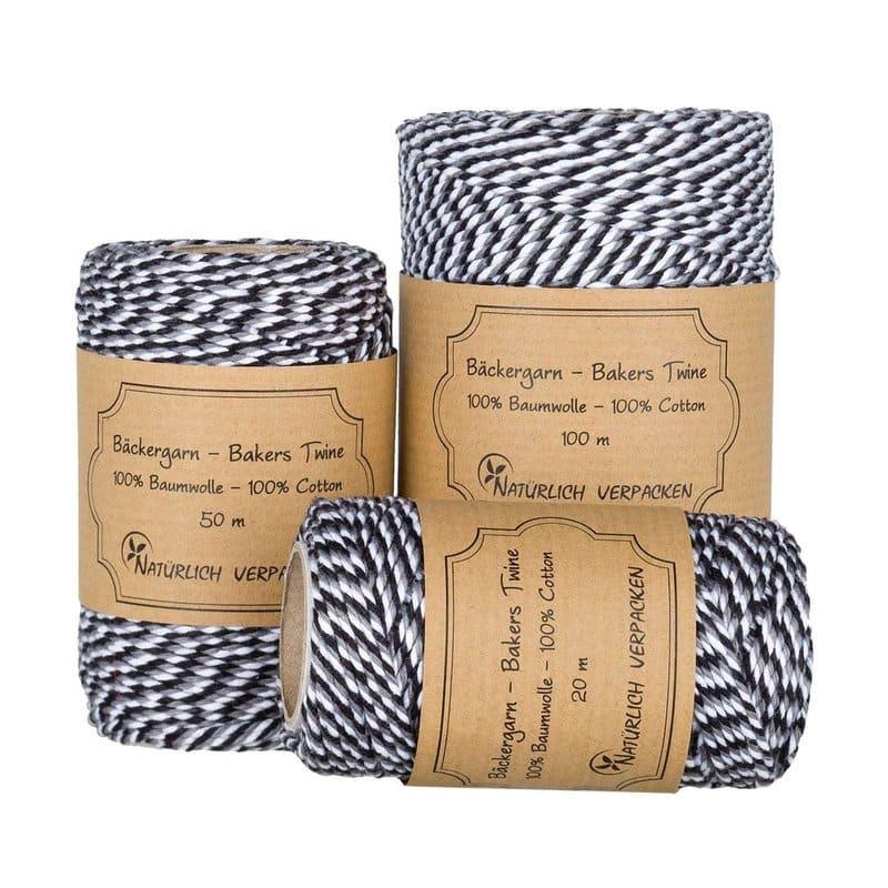 Inpakken met papieren touw en breien, haken, weven