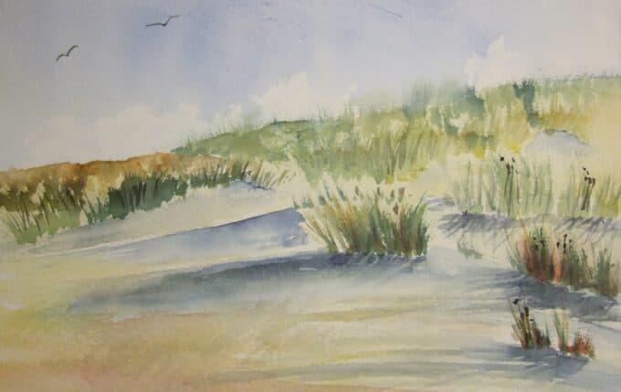 Hoe duinen en zee schilderen
